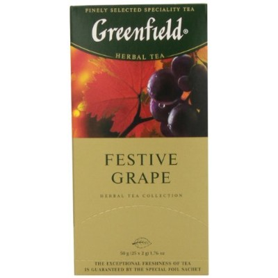 Greenfield Tea, Festive Grape, 25 Count by Greenfield
