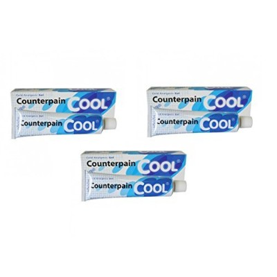 3PCS 120G COUNTERPAIN ANALGESIC WARM BALM COOL COLD RELIEVES MUSCULAR ACHES & PAIN BLUE by...