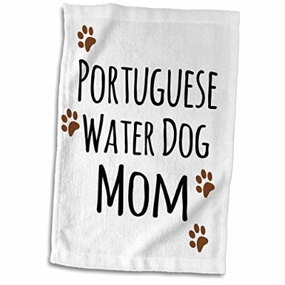 3dローズInspirationzStoreペットデザイン – Portuguese Water Dog Mom – Doggie by Breed – Muddyブラウン足プリント犬愛好家Proud...