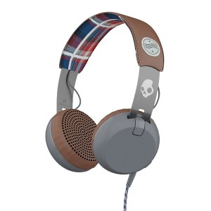 SKULLCANDY Grind ONEAR ヘッドホン○Grind Americana/plaid/gray 音響機器