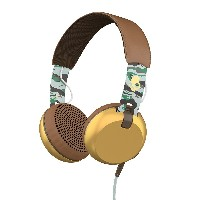 SKULLCANDY Grind ONEAR ヘッドホン○Grind Scout camo/brown/gold 音響機器