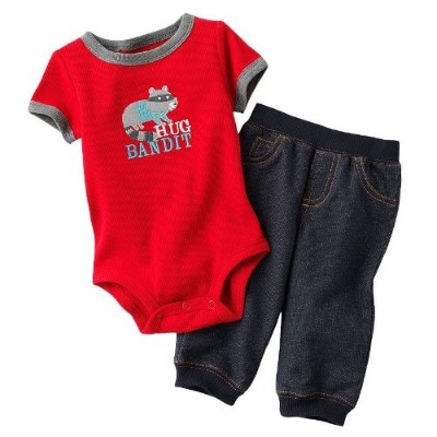 Carter's PANTS ベビー・ボーイズ 3 Months レッド 5184755