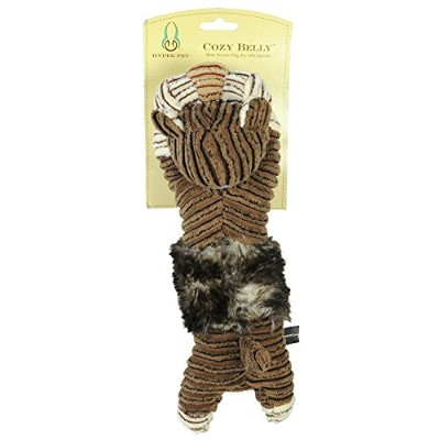 Hyper Pet Cozy Belly Tiger with Squeaker by Hyper Pet