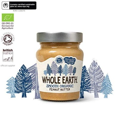 Whole Earth Organic Smooth Peanut Butter 227 g (order 6 for trade outer) / ホールアースオーガニック滑らかなピーナッツバター2...