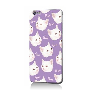 K.W.H PURPLE LOVELY CAT PR○ZI0077IP07 Purple パソコン・モバイル雑貨