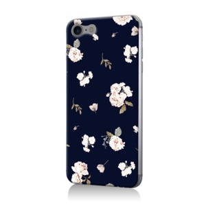 MIIA BOTANICAL FLOWER iPhoneケース○ZM0031IP07 Navy パソコン・モバイル雑貨