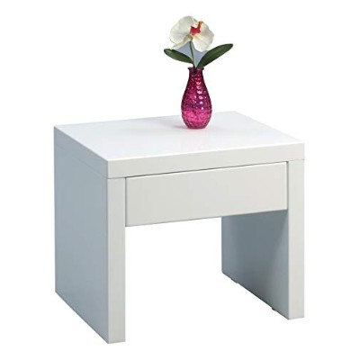 HomeTrends4You 517050 Side Table 45 x 40 x 38 cm High Gloss White