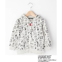 【3can4on(Kids)(サンカンシオン(キッズ))】 SNOOPY コラボ総柄パーカー OUTLET > トップス > パーカー ライトグレー