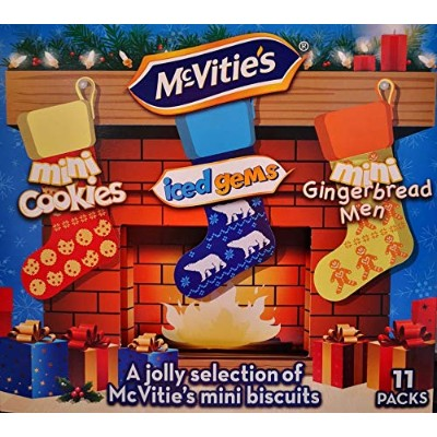 McVities Biscuits Mini Cookies Iced Gems Mini Ginger Party Selection 11 Packs