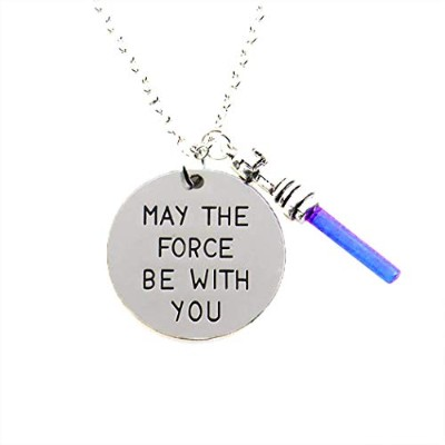 STAR WARS :最後の帰還。ペンダントネックレス: May the Force Be With You , Light Sabers & Rebel Alliance
