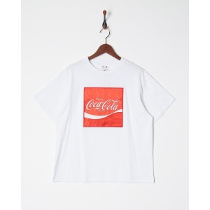 X-girl CocaCola by Xgirl SATIN PATCH S/S BIG TEE○5181114 White トップス