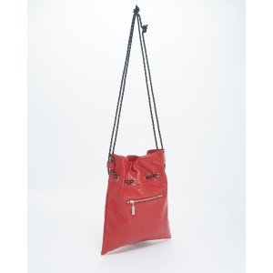 X-girl FAUX LEATHER GATHERED SHOULDER○5174007 Red カバン・バッグ