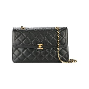 Chanel Vintage Paris Limited Double Flap ショルダーバッグ - ブラック