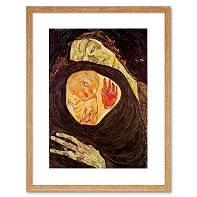 Painting Schiele Dead Mother 1910 Old Master Framed Wall Art Print ペインティングオールドマスター壁