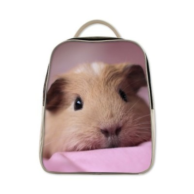 2015 New Arrival Animals Pig Guinea Pig Theme White or Black backpack student bag,PU Leather school...