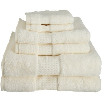 (Ivory) - Kassatex combed long staple Turkish Cotton from our Elegance Collection 6-Piece Solid...