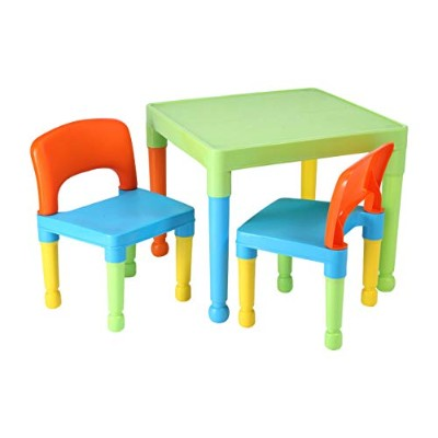 Liberty House Toys Children's Table and 2 Chairs Set, Plastic, Multi-Colour by Liberty House Toys