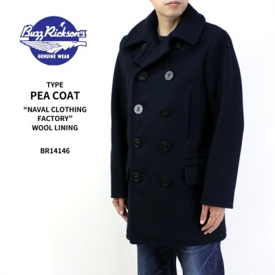 "BUZZ RICKSON'S バズリクソンズ ジャケット TYPE PEA COAT ""NAVAL CLOTHING FACTORY"" WOOL LINING BR14146 【ピーコート 裏地..."