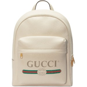 Gucci Gucci Print leather backpack - ホワイト