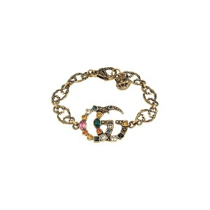 Gucci Crystal Double G bracelet - メタリック