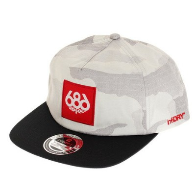 686 WP Knockout キャップ L8WHAT03 White Camo (Men's)