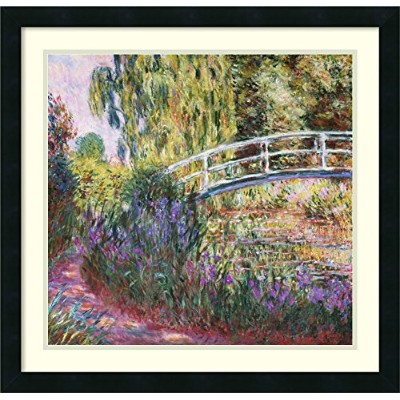 アートフレーム印刷' The Japanese Bridge , Pond with Water Lilies , 1900 ' byクロード・モネ Size: 26 x 25 (Approx),...