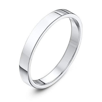 [男性用リング]Theia Palladium 950, Super Heavy Weight, Flat Court Shape 3mm Wedding Ring - Size N[並行輸入品]