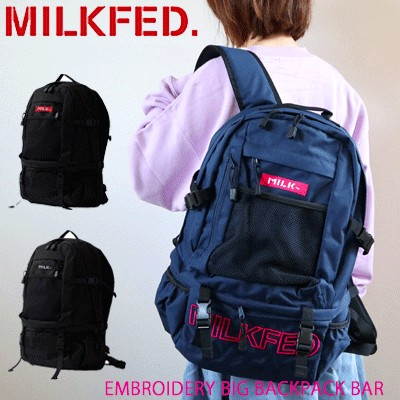 【10%OFF】MILKFED ミルクフェド EMBROIDERY BIG BACKPACK BAR リュック レディース バッグ 通学 通勤 旅行 大容量 リュックサック おしゃれ 大人 おすすめ...