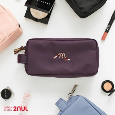 2nul For Your Make up - Make up Pouch メイクポーチ 大容量 化粧ポーチ コスメポーチ たっぷり 収納 旅行用品 トラベル用品 旅先 外出 かわいい シンプル...