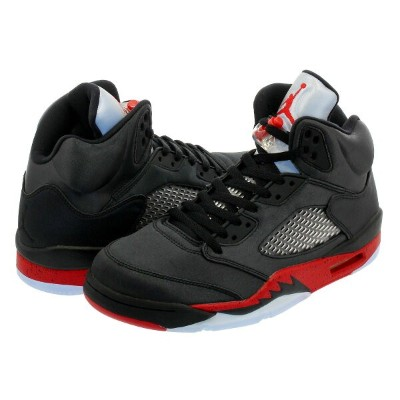NIKE AIR JORDAN 5 RETRO ナイキ エア ジョーダン 5 レトロ SATIN BLACK/UNIVERSITY RED 136027-006