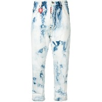 Dsquared2 tie-dye cropped jeans - ブルー