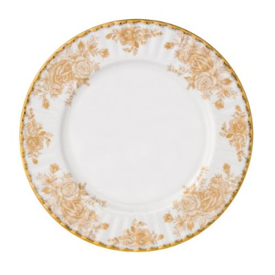 Royal Albert Old Country Rosesゴールド8インチFluted Dessert Plate