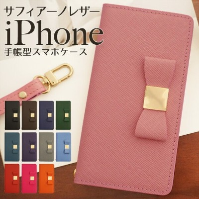 iPhoneケース iPhone11 Pro Max iPhoneXR iPhoneXS XSMax X iPhone8 iPhone8Plus iPhone7ケース 手帳型 リボン レザー 本革...