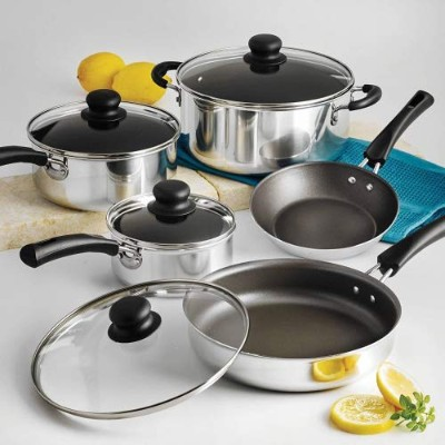 Nonstick 9個Pots and Pans調理器具セット
