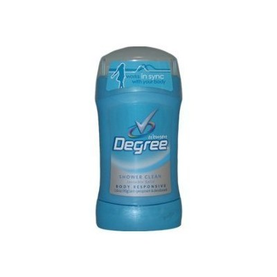 Degree Shower Clean Body Responsive Invisible Solid Anti-Perspirant and Deodorant for Men, 50 ml ...