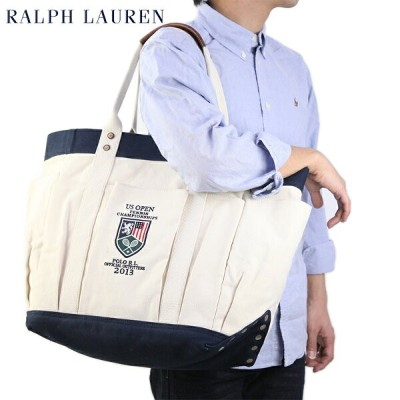 """POLO Ralph Lauren """"US OPEN"""" Canvas Vintage Tote US ポロ ラルフローレン メンズ キャンバス トートバッグ"""