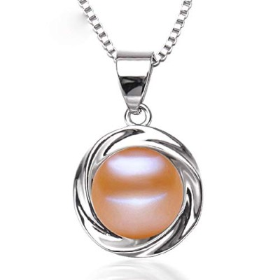 freshwater Pink pearl pendant jewelry for women [並行輸入品]