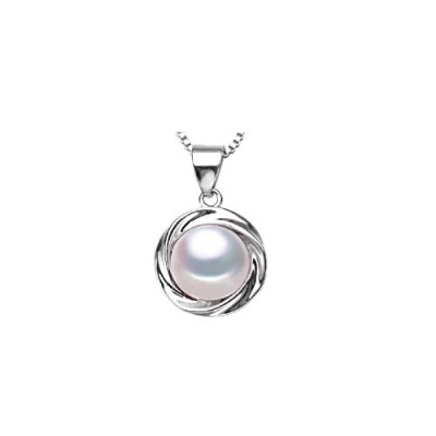 freshwater White pearl pendant jewelry for women [並行輸入品]