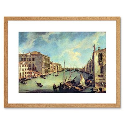 Canaletto Grand Canal At San Vio Old Master Framed Wall Art Print 運河グランド運河オールドマスター壁
