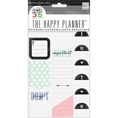 me & my BIG ideas Create 365 The Happy Planner Don't Forget Stickers, 6 Sheets by Me & My Big Ideas
