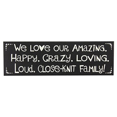 We Love Our Amazingファミリ – 5 x 16 Wooden Sign by My Word 。