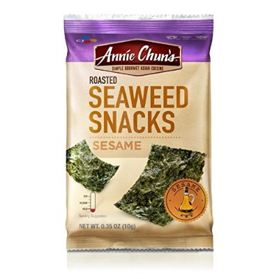 Annie Chun's Roasted Seaweed Snacks, Sesame, 0.35 Ounce (Pack of 12) by Annie Chun's