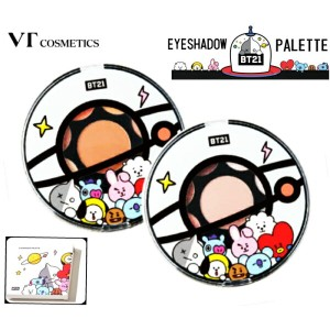 【韓国コスメ】◆VT x BT21◆アイシャドウ パレット VT Cosmetics Eye Shadow Palette 01.MOOD BROWN/02.MOOD INDIGO