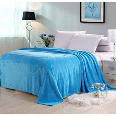 Candy Color Flannel Bed Blanket Extra Soft Warm Plush Easy Care Lightweight Fluffy Bedding Blankets...