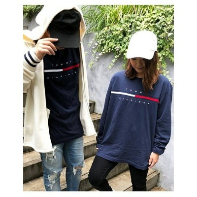 TOMMY HILFIGER (M) トミーヒルフィガー ロゴ ロング Tシャツ / TINO TEE L/S トミーヒルフィガー カットソー【送料無料】