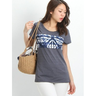 【SALE/55%OFF】ROXY (W)EASY GAME TEE ロキシー カットソー Tシャツ ネイビー ピンク