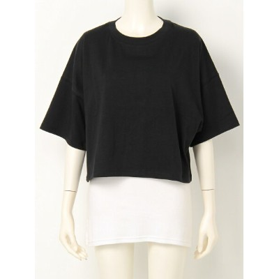 SLY NEON BORDER LOOSE CROPPED T/SH スライ カットソー【送料無料】
