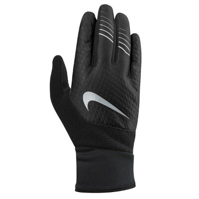 ナイキ Nike レディース 手袋・グローブ【Therma-Fit Running Gloves】Black Silver