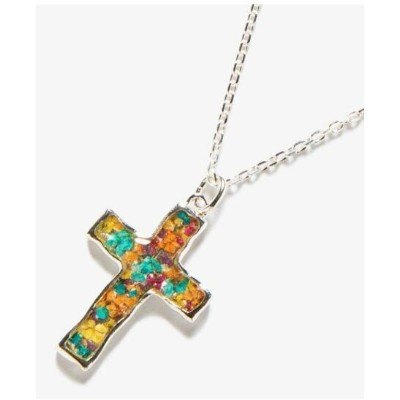 rehacer Flower cross necklace レアセル アクセサリー ネックレス シルバー【送料無料】