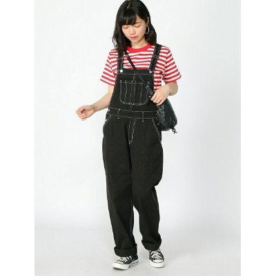 X-girl WIDE TAPERED OVERALL エックスガール パンツ/ジーンズ【送料無料】
